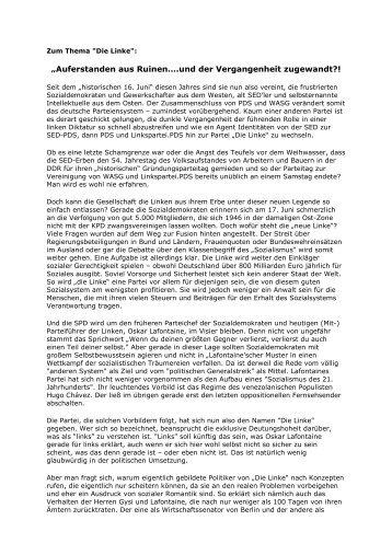 """""""Auferstanden aus Ruinen….und der Vergangenheit zugewandt?!"""