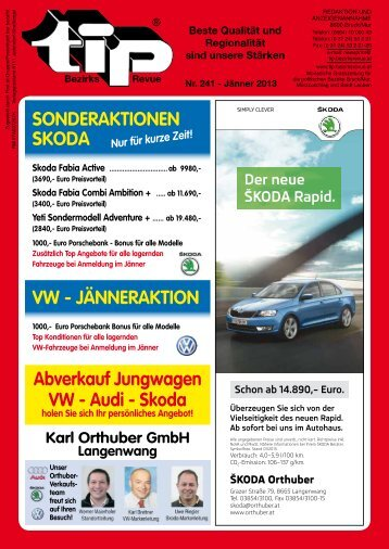 Skoda VW - JÄNNERAKTION - MentalVital-Lanzinger.at