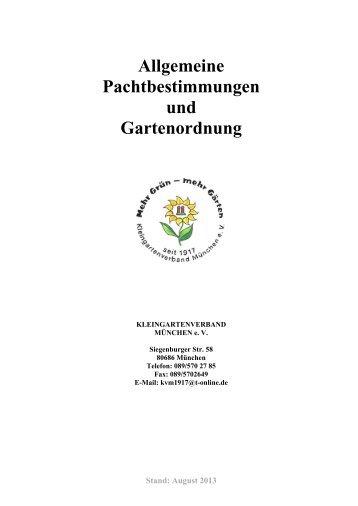 Gartenordnung - Kleingartenverband München eV