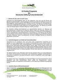 10-Punkte-Programm Januar 2007 - Deutsche Stiftung ...