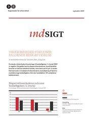 DI Indsigt - Virksomheder forudser faldende beskæftigelse - SEP 2009
