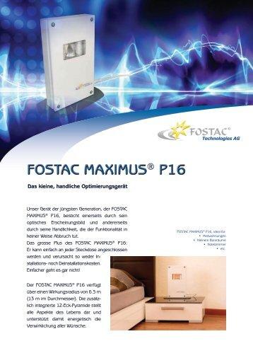 A - Flyer Fostac Maximus P16 - Crystal NTE SA