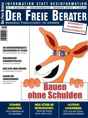 Der Freie Berater | Ausgabe 4/2005 - Sielmon
