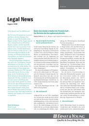 Legal News – August 2006 - Schweiz