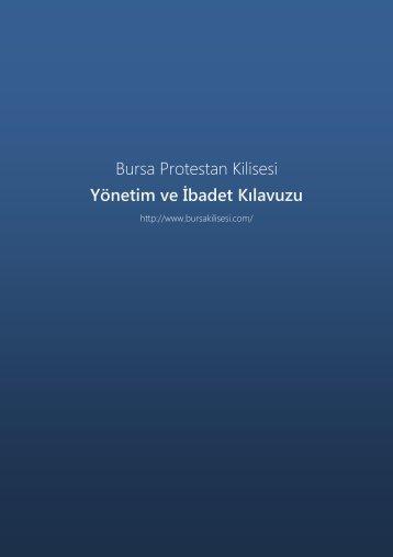 Yönetim ve İbadet Kılavuzu - Bursa Protestan Kilisesi