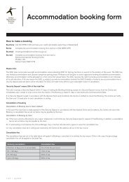 Accommodation booking form - NSW Sport and Recreation
