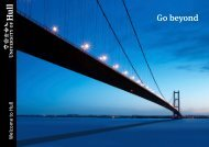 Go beyond - University of Hull