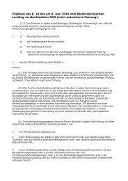 Fließtext des § 18 des am 8. Juni 2010 vom Niedersächsischen ...