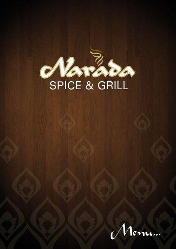 Menu - narada spice & grill