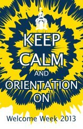 Orientation Week schedule - Mount Mercy University