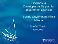 Guidelines 4-6 Developing a file plan for government ... - PARBICA