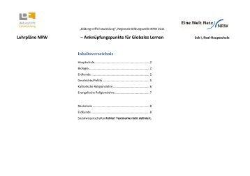 Download Lehrpläne NRW-Sek I Real/Haupt u GL - Eine Welt Netz ...