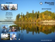 to download our fishing brochure (PDF) - Pakuni Lodge