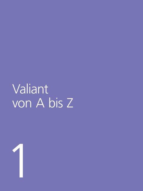 Kapitel 1 Valiant von A bis Z (PDF, 269.2 KB) - Valiant Bank