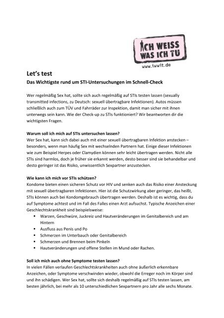 Test a sexualität Sexuality in