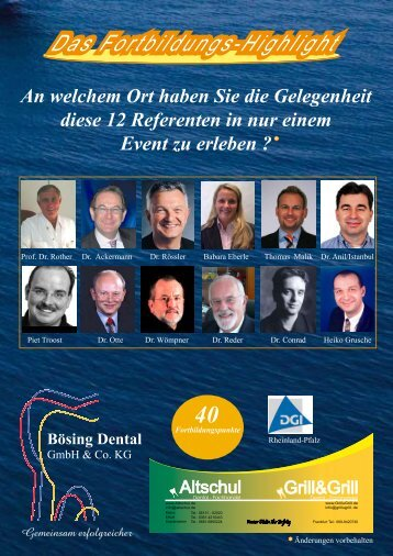 AIDA-Fortbildungsreise 2009 - boesing-dental.de