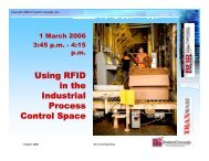 Using RFID in the Industrial Process Control Space