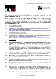 Approved regulations for named City School of Architecture ...