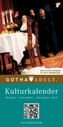 Kulturkalender - KulTourStadt Gotha GmbH