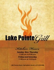 Kitchen Hours: - Lake Pointe Grill