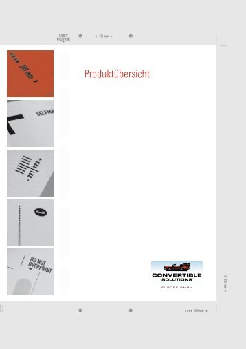 Download Produktkatalog - Convertible Solutions Europe