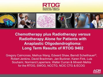 Chemotherapy Plus Radiotherapy Versus Radiotherapy Alone For ...