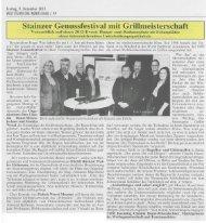 Stainzer Genussfestival mit Grillmeisterschaft - Schilcherland