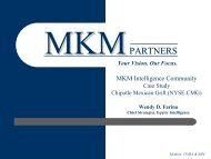 MKM Case Study - Chipotle - MKM Partners