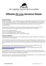 Audition, Checkliste, etc für Level 1 bis 4 - michelkarin.name