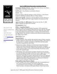 Approved at July 17, 2008 regular Parks ... - San Juan County