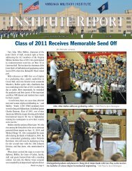 Class of 2011 Receives Memorable Send Off - Virginia Military Institute
