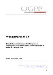 Wahlkampf in Wien - Österreichische Gesellschaft für ...