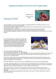Karibik Reisebericht November 2003