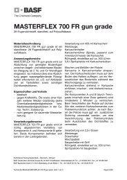 MASTERFLEX 700 FR gun grade - Aco