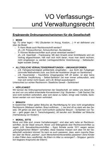 VO Verfassungs- und Verwaltungsrecht - Twoday