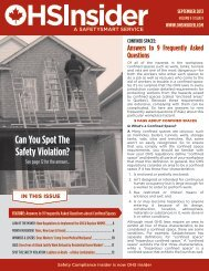 CONFINED SPACES - OHS Insider