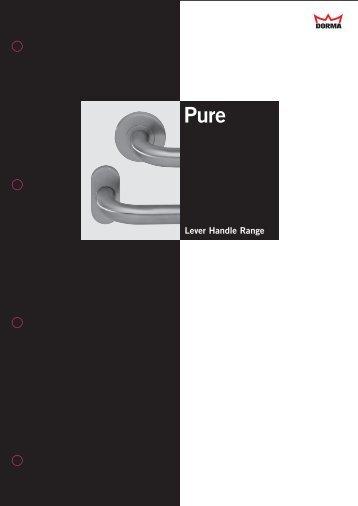 Pure Lever Handles (PDF) - Dorma