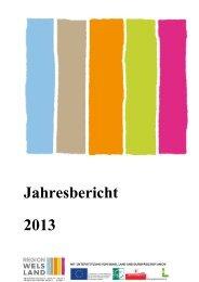 LEWEL Jahresbericht 2013.pdf - Region Wels Land