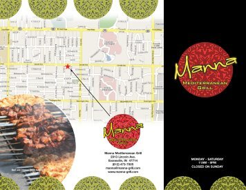 appetizers - Manna Mediterranean Grill