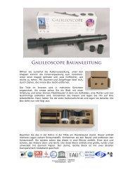GALILEOSCOPE BAUANLEItUNG