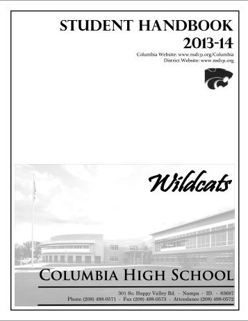 Columbia High School - NSD Main