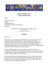 Newsletter 3, September 2012 - Positive und Transkulturelle ...