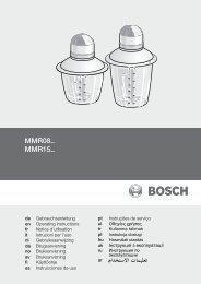 Manual de usuario - Bosch