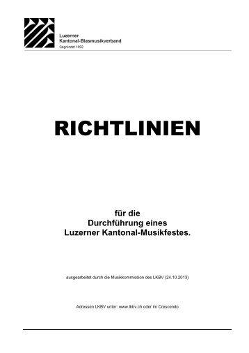 Musikfest_Richtlinien - Luzerner Kantonal-Blasmusikverband
