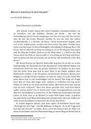 """von Daniel M. Bühlmann Liebe Schwestern und Brüder """"Wir müssen ..."""