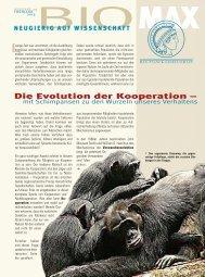 Die Evolution der Kooperation – - Schimpansen - Max-Planck ...