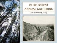 duke forest annual gathering - Duke University