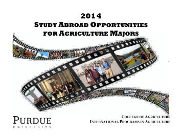 2014 Ag Study Abroad Opportunities - Purdue Agriculture