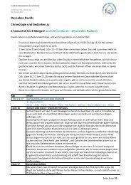 Das Leben Davids Chronologie und Gedanken zu 1 Samuel 16 bis ...