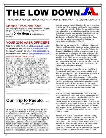 your 2010 aasr officers - Arlington Area Street Rods